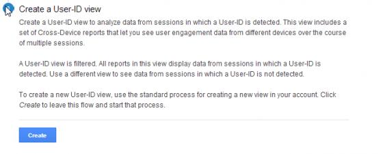 Skapa User-ID View - steg 1