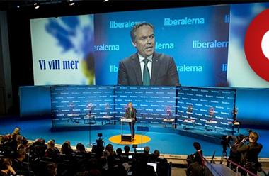Folkpartiet i talarstolen