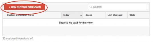 Sätt upp Custom Dimensions i Google Analytics - steg 2