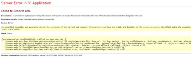 Exempel på dålig 404-sida