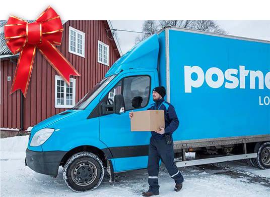 Paket leverans jul