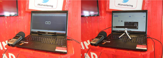 standard test setup with the tobii and one with the eye tribe