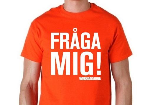T-shirt från IDG på Webbdagarna