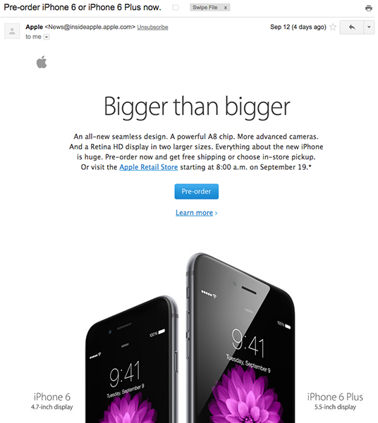 iphone6 email marketing