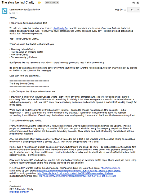 Clarity email marketing