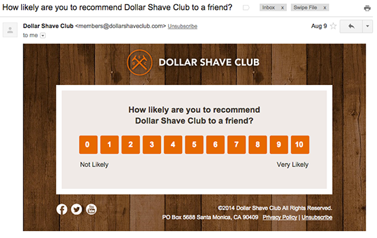 dollar shave club feedback