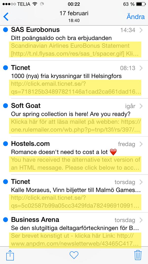 Email preheader exempel