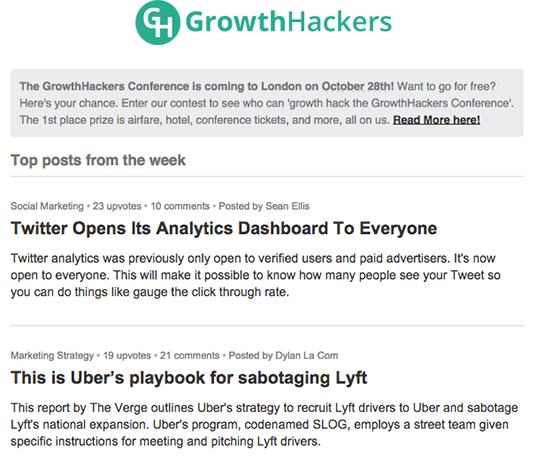 Growthhackers social proof
