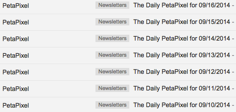 Petapixel subject lines