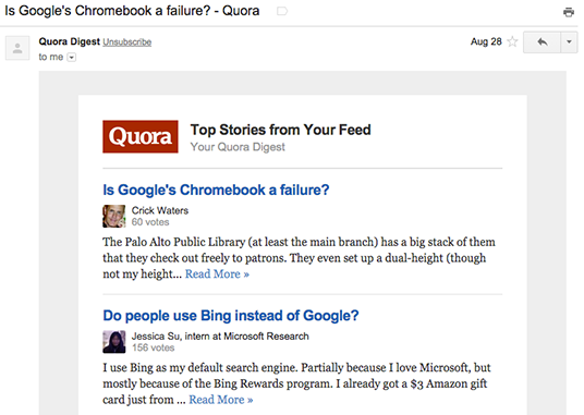 Quora social proof