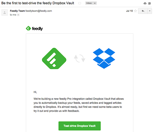Freedly Dropbox