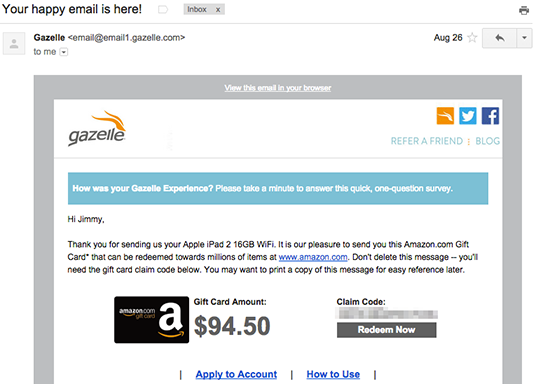 Gazelle email