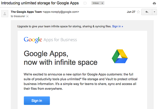 Google Apps email