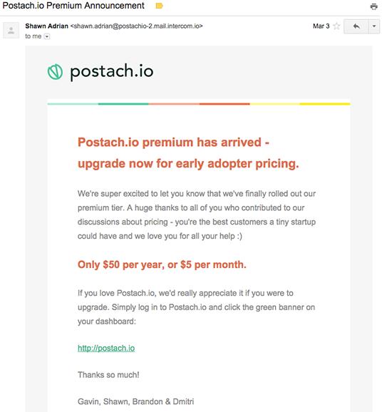 Postachio email