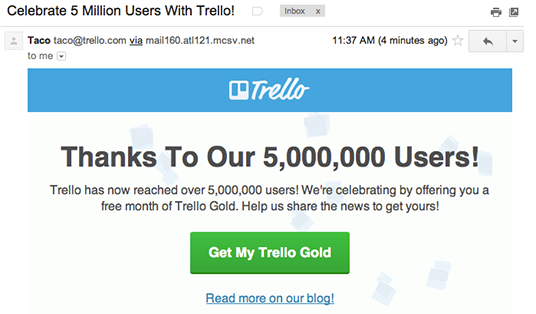 Trello Email marketing