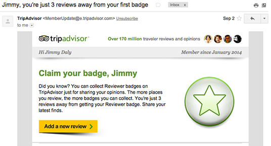 TripAdvisor Email Badge