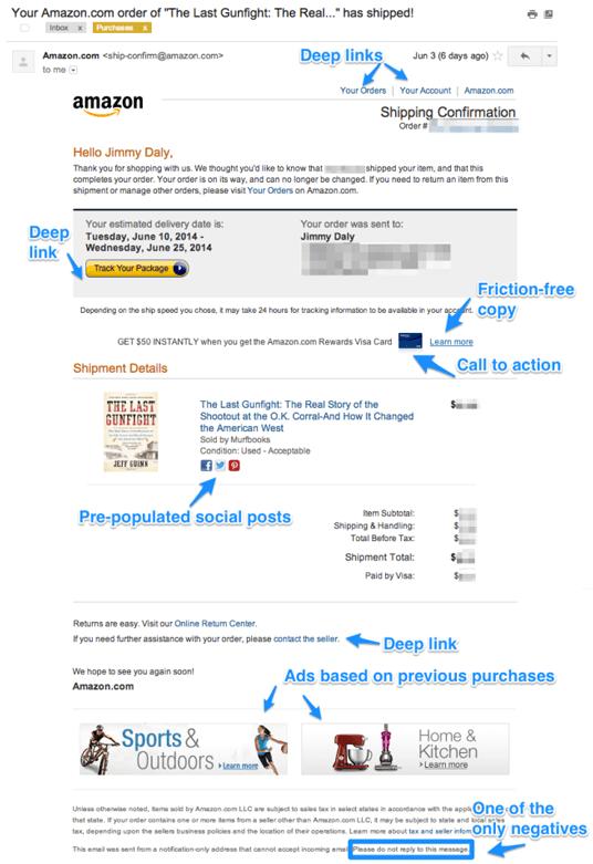 Bekraftelsemail exempel Amazon