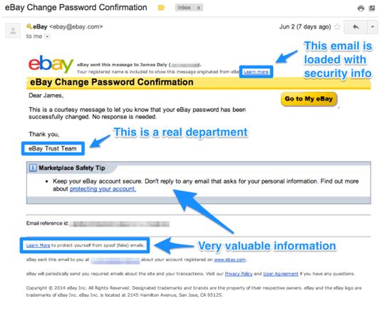 Bekraftelsemail exempel eBay