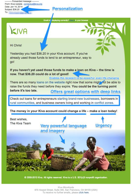 Påminnelsemail exempel Kiva