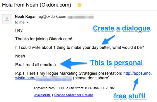 Välkomstmail exempel OKDork