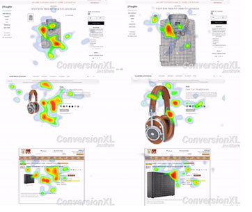 eye tracking product images and copy