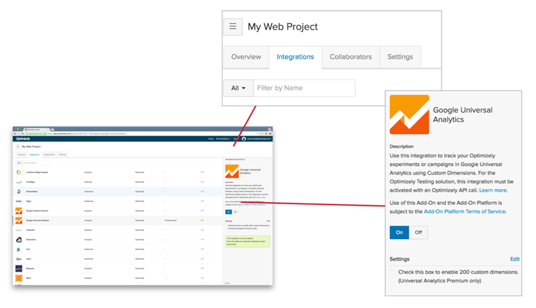 Integrate Optimizely into Google Analytics