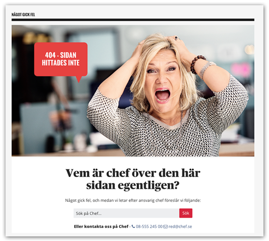 Chef 404-sida