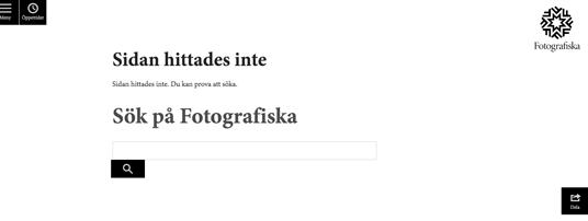 Fotografiska 404-sida