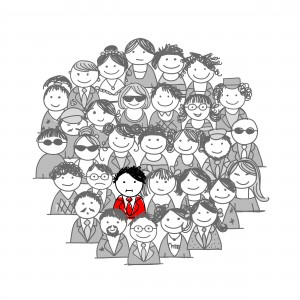 Red person in crowd (1)