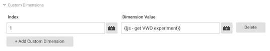 GTM Custom Dimension