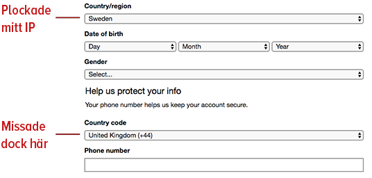 Microsoft uses IP to fill in web forms