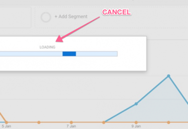 Cancel Load button Google Analytics