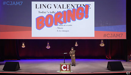Ling Valentine did not bring a presentation to Conversion Jam 2017, instead she made a statement about how boring all presentations and powerpoints are.