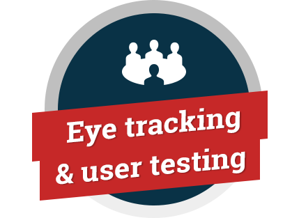 Eye tracking & user testing