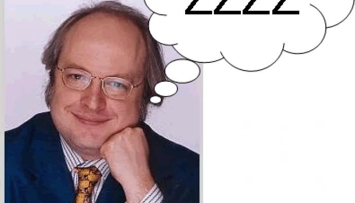 Jakob Nielsen somnar – Jag lär mig massor.