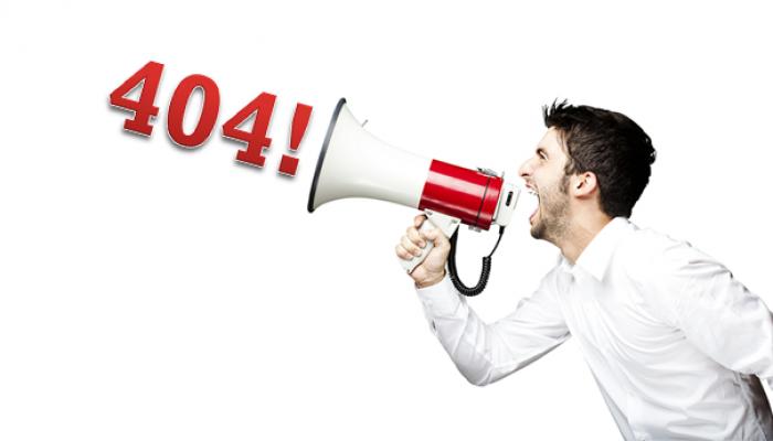 70 % av Sveriges toppsajter måste förbättra sina 404-sidor 2016