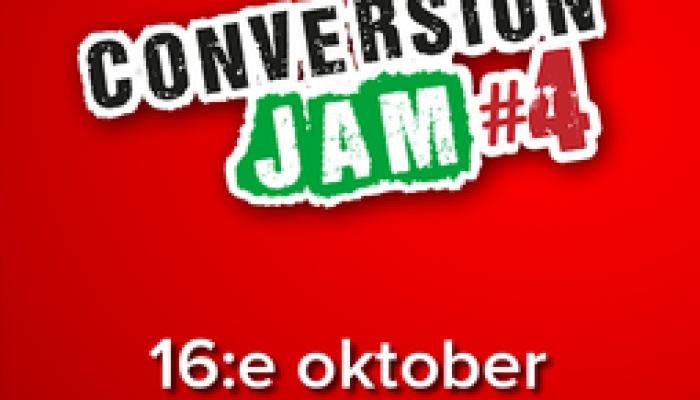Snart dags för en ny omgång Conversion Jam #4
